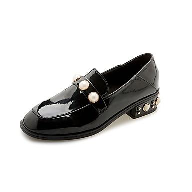 Damen Schuhe Kunstleder Sommer Herbst Komfort Bullock Schuhe formale Schuhe Sneakers Walking Blockabsatz Quadratischer Zeh