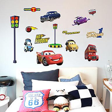 패션 교통 만화 벽 스티커 플레인 월스티커 데코레이티브 월 스티커, 종이 홈 장식 벽 데칼 벽 유리 / 욕실