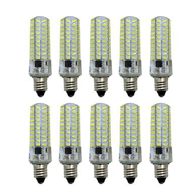 abordables Ampoules électriques-HKV 10pcs 5 W LED à Double Broches 400-500 lm E14 E12 E17 T 80 Perles LED SMD 4014 Intensité Réglable Blanc Chaud Blanc Froid 220-240 V / 10 pièces / RoHs