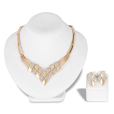للمرأة مجموعة مجوهرات - موضة, euramerican في تتضمن عقد ذهبي من أجل زفاف حزب مناسبة خاصة / الذكرى السنوية / عيد ميلاد / خطوبة / هدية / يوميا