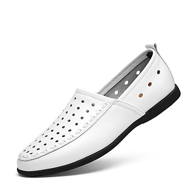 Homens Loafers de conforto Couro Ecológico Primavera / Outono Conforto Mocassins e Slip-Ons Preto / Amarelo / Marron
