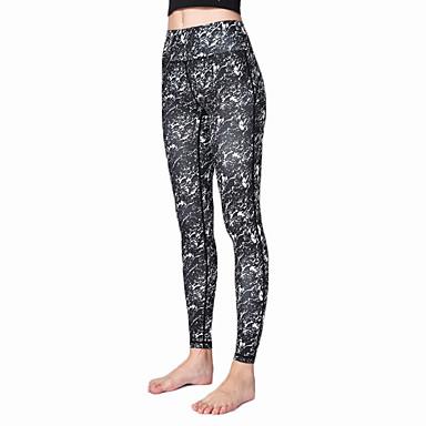 calças de yoga Leggings / Meia-calça / Calças Secagem Rápida / Respirável Natural Elasticidade Alta Moda Esportiva Mulheres Ioga /