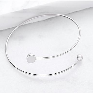 abordables Bracelet-Manchettes Bracelets Femme Géométrique dames Mode Bracelet Bijoux Argent Forme Géométrique pour Soirée Occasion spéciale
