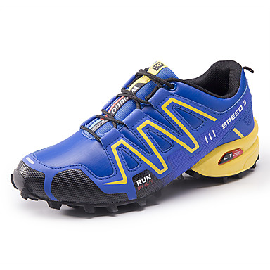Men's Shoes PU Fall Novelty Athletic Shoes Running Shoes For Outdoor Green Black/White Royal Blue