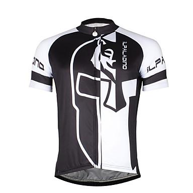 ILPALADINO Homens Manga Curta Camisa para Ciclismo Moderno Caveiras Moto Camisa / Roupas Para Esporte Blusas, Respirável Secagem Rápida Resistente Raios Ultravioleta 100% Poliéster / Com Stretch