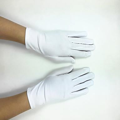 Polyester Elastischer Satin Handgelenk-Länge Handschuh Klassisch Brauthandschuhe Party / Abendhandschuhe With Einfarbig