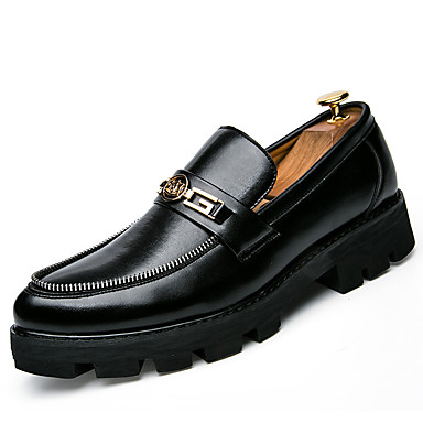 Homens sapatos Courino Inverno Primavera Verão Outono Sapatos formais Oxfords Caminhada Ziper para Casamento Casual Festas & Noite Branco