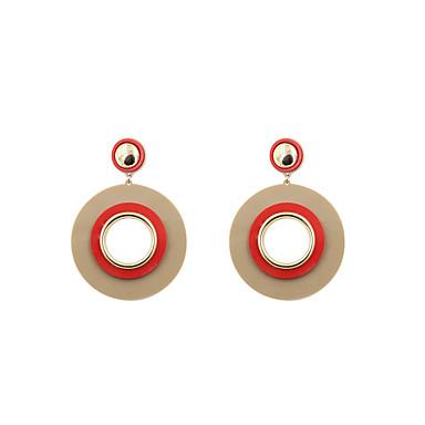 Dámské Visací náušnice Šperky Přizpůsobeno Kruhy Euramerican minimalistický styl Spojené státy Módní Akrylát Slitina Kulatý Šperky
