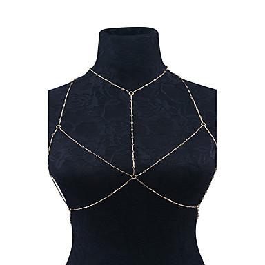 Cadeia corpo / Cadeia de barriga - Mulheres Dourado Prata Confeccionada à Mão Fashion Forma Geométrica Bijuteria de Corpo Para Casual