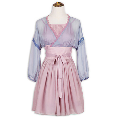 Jednodílné/Šaty Sweet Lolita Lolita Cosplay Lolita šaty Módní Krátký rukáv Short / Mini Šaty Pro