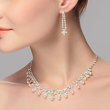 cheap Necklaces-Women's Choker Necklace Euramerican Pearl Imitation Pearl Alloy White Necklace Jewelry For Wedding Party Special Occasion Birthday Engagement Gift / Casual / Valentine