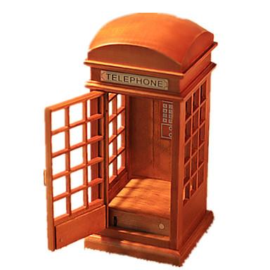 Caixa de música Madeira Forma Cilindrica Vintage Retro Unisexo Dom