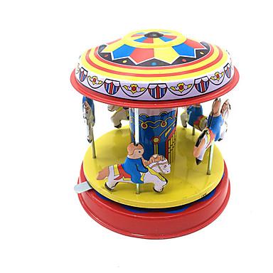 Brinquedos de Corda Brinquedos Fofinho Forma Cilindrica Cavalo Carrossel Merry Go Round Ferro Metal 1pcs Peças Dom