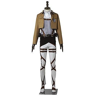 Inspirado por Attack on Titan Levy Anime Fantasias de Cosplay Ternos de Cosplay Sólido Manga Longa Blusa Calças Avental Cinto Mais
