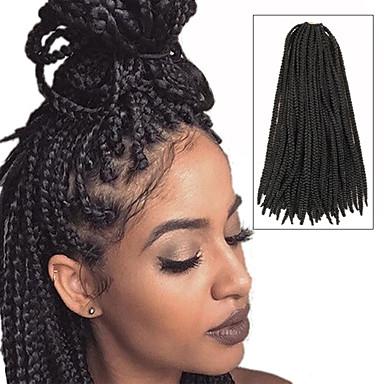 Twist punokset laatikko punokset 100% kanekalon hiukset Tummanruskea Hiuspidennykset 24