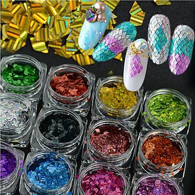 c1534f8069 1 üveg forró divat színes csillogó káprázatos flitter díszítés köröm  lézeres csík rombusz vékony szelet DIY