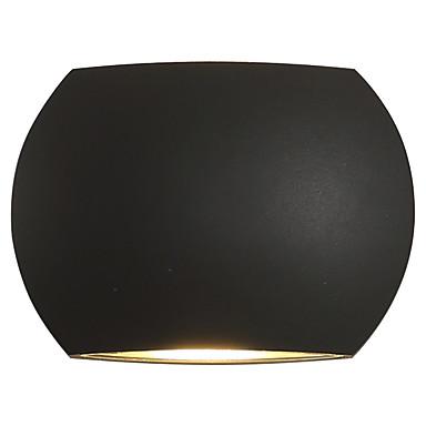 벽 빛 엠비언트 라이트 벽 램프 6W 110-120V 220-240V 집적 LED 모던/콘템포라리 컨츄리 블랙 옥사이드 마감