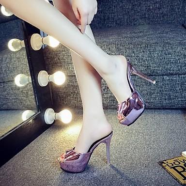 여성 구두 PU 여름 슬링백 샌들 청키 굽 제품 캐쥬얼 쵸콜렛 실버 핑크