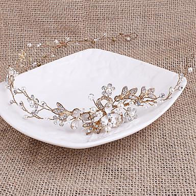Pérola Strass Headbands 1 Casamento Capacete