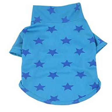 강아지 티셔츠 강아지 의류 귀여운 별 옐로우 퓨샤 블루 코스츔 애완 동물