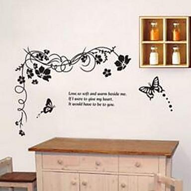 보태니컬 벽 스티커 플레인 월스티커 데코레이티브 월 스티커,비닐 자료 홈 장식 벽 데칼