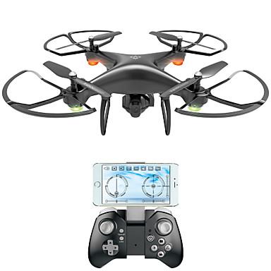 billige Fjernstyrte quadcoptere og multirotorer-RC Drone VISUO XS808 4 Kanaler 6 Akse 2.4G Med HD-kamera 2.0MP 720P Fjernstyrt quadkopter FPV / LED Lys / En Tast For Retur Fjernstyrt