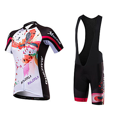 Malciklo Mulheres Manga Curta Camisa com Bermuda Bretelle Formais Moto Tights Bib Camisa/Roupas Para Esporte, Secagem Rápida, Design