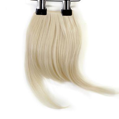 Loiro Franja Franja 0.1kg Cabelo Sintético Pedaço de cabelo Alongamento