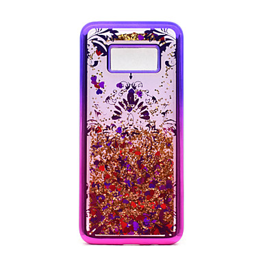 Capinha Para Samsung Galaxy S8 Plus / S8 Galvanizado / Liquido Flutuante / Estampada Capa traseira Lace Impressão / Glitter Brilhante Macia TPU para S8 Plus / S8 / S7 edge