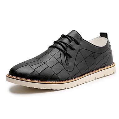 Homens sapatos Couro Verão / Outono Sapatos formais / Conforto Oxfords Preto / Laranja / Bege