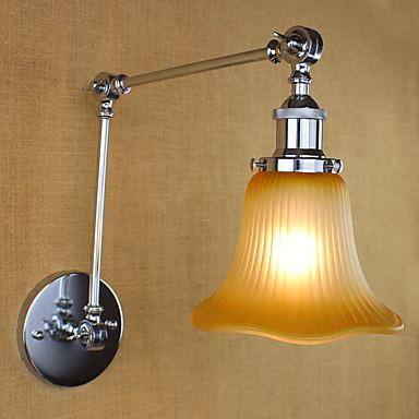 Regional Retro Swing Arm Lights Para Metal Luz de parede 110-120V 220-240V 40W