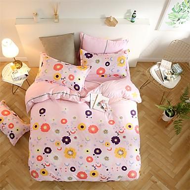 Bettbezug-Sets 3D 4 Stück Polyester / Baumwolle Reaktivdruck Polyester / Baumwolle (Für Einzelbett nur 1 Kissenbezug)