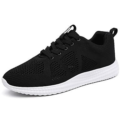 Mulheres Sapatos Tule Verão Outono Conforto Tênis Caminhada Plataforma Ponta Redonda Cadarço para Atlético Casual Branco Preto Cinzento