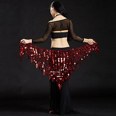 رقص شرقي إشاربات الرقص الشرقي للمرأة أداء بوليستر ترتر حزام البطن شال الورك للرقص