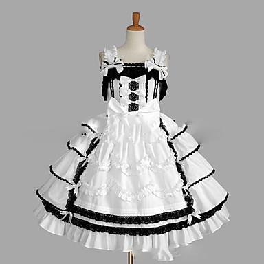 Princesa Sweet Lolita Vestidos Falda Overol Jsk Mujer Chica Tela De Encaje Japonés Disfraces De Cosplay Tallas Grandes Personalizada Blanco Salón