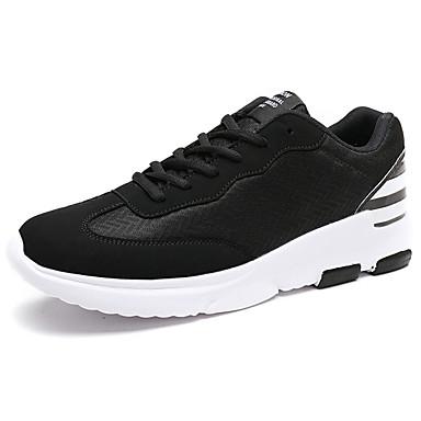 Homens sapatos Borracha Primavera/Outono Conforto Tênis Cadarço para Ao ar livre Branco/Preto Preto/Vermelho