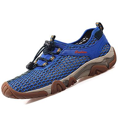 Homens sapatos Tule Primavera / Outono Tênis Aventura Marron / Khaki / Azul Real
