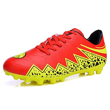 Chlapecké Obuv PU Jaro Podzim Pohodlné Atletické boty Fotbal Šněrování pro Venkovní Stříbrná Oranžová Tmavomodrá černá / modrá