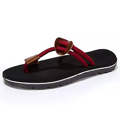 Miehet kengät PU Kevät Kesä Valopohjat Sandaalit Käyttötarkoitus Kausaliteetti Musta Ruskea Punainen Khaki