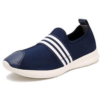 Homens sapatos Tule Verão Conforto Mocassins e Slip-Ons para Casual Preto Azul Escuro Cinzento