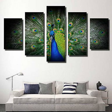 Rolled Canvas Prints Modern/Contemporary, Five Panels Horizontal Print Wall Decor Home Decoration