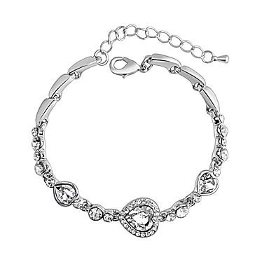 Dámské Řetězové & Ploché Náramky Šperky Vintage příroda Módní Ručně Vyrobeno Křišťál Slitina Round Shape Heart Shape Šperky Pro Svatební