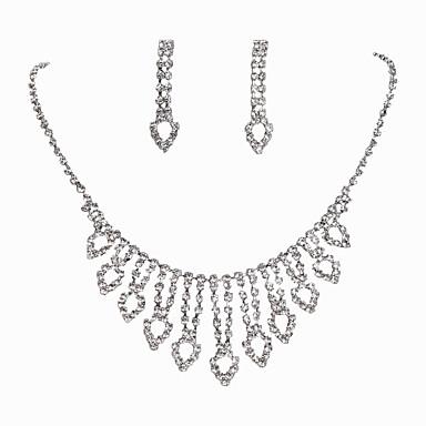 Damen Braut-Schmuck-Sets Strass Aleación Herz Klassisch Modisch Hochzeit Party Besondere Anlässe Verlobung 1 Halskette 1 Paar Ohrringe