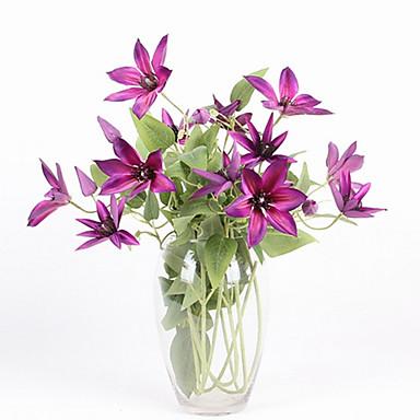 زهور اصطناعية 1 فرع النمط الرعوي نباتات أزهار الطاولة