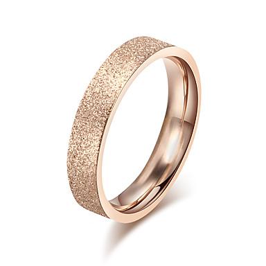 Mulheres Anel de banda, Anel, Anel de noivado - Rosa ouro Estilo simples, Elegante 7 / 8 / 9 Ouro Rose Para Casamento / Festa / / Diário