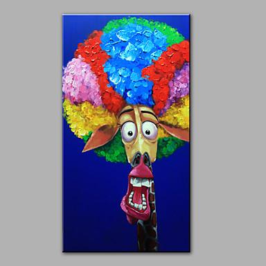 Ručně malované Zvíře Vertikální,Moderní Jeden panel Hang-malované olejomalba For Home dekorace