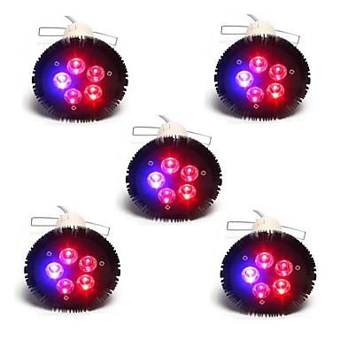15W E26/E27 LED Aufzuchtlampen PAR38 5 SMD 800 lm Rot Blau V 5 Stück