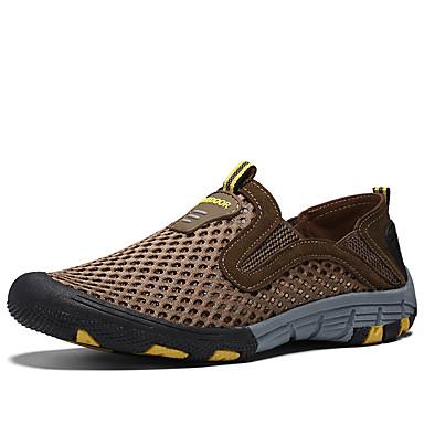 Homens sapatos Tule Verão Outono Conforto Mocassins e Slip-Ons Aventura para Diário Esportes Roupas para Lazer Cinzento Marron Verde