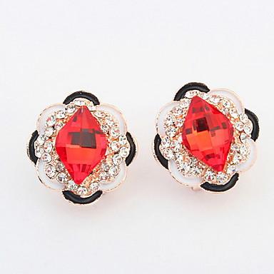 Damen Ohrstecker Tropfen-Ohrringe Kreolen Strass Personalisiert Religiöser Schmuck Luxus Einzigartiges Design Logo Stil Klassisch Retro