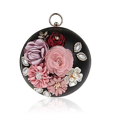 Damen Taschen PU Polyester Geldbörse Schleife(n) Blume für Ganzjährig Gold Schwarz Silber Rote